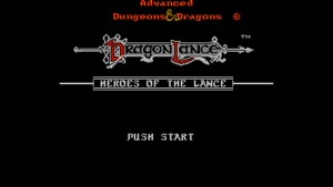 Advanced Dungeons & Dragons: Heroes Of The Lance (NES) Game Hub
