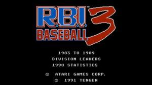 R.B.I. Baseball 3 (NES) Game Hub
