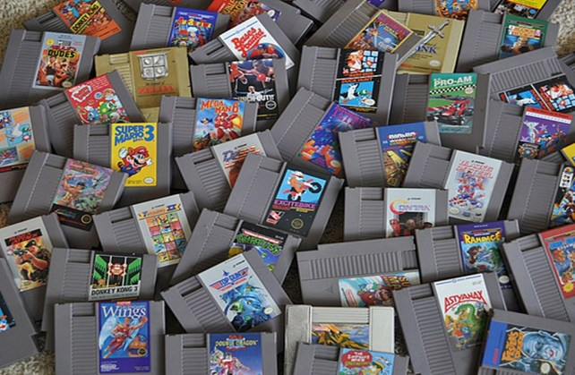 Piles of NES Games (Revised)