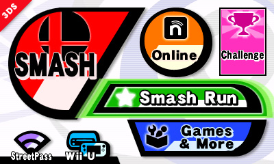 Super Smash Bros for 3DS Menu