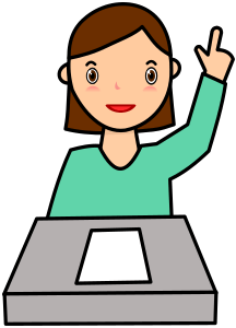 Student asking question clipart
