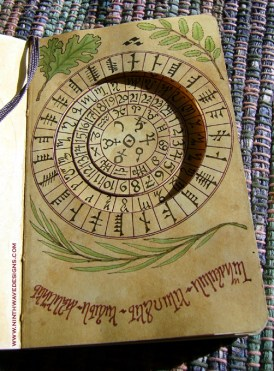 Cipher Wheel page showing overlay page and moveable wheels.