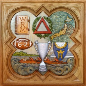 """SPS Form of 2011 Plaque, 11.25"""" x 11.25"""", painted basswood."""