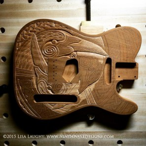 Here the first raven is carved and I have moved onto carving the second one.