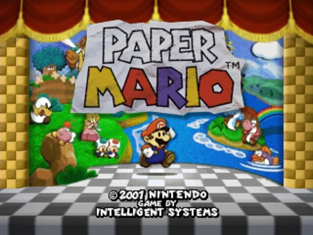 Paper Mario Title Screen