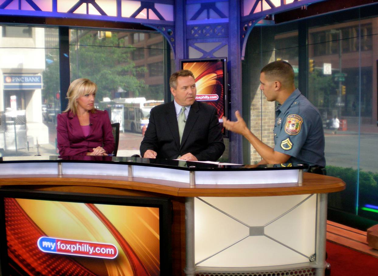 image of Delaware State Police interview on foxphilly.com