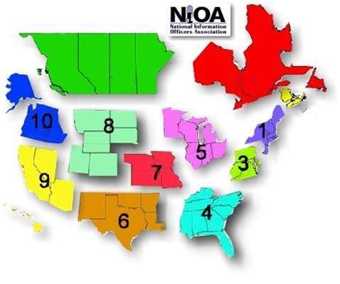 NIOA Region Map