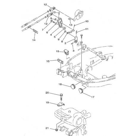 aanbouwkit Yamaha 9.9 en 15 pk 66M-48501-00