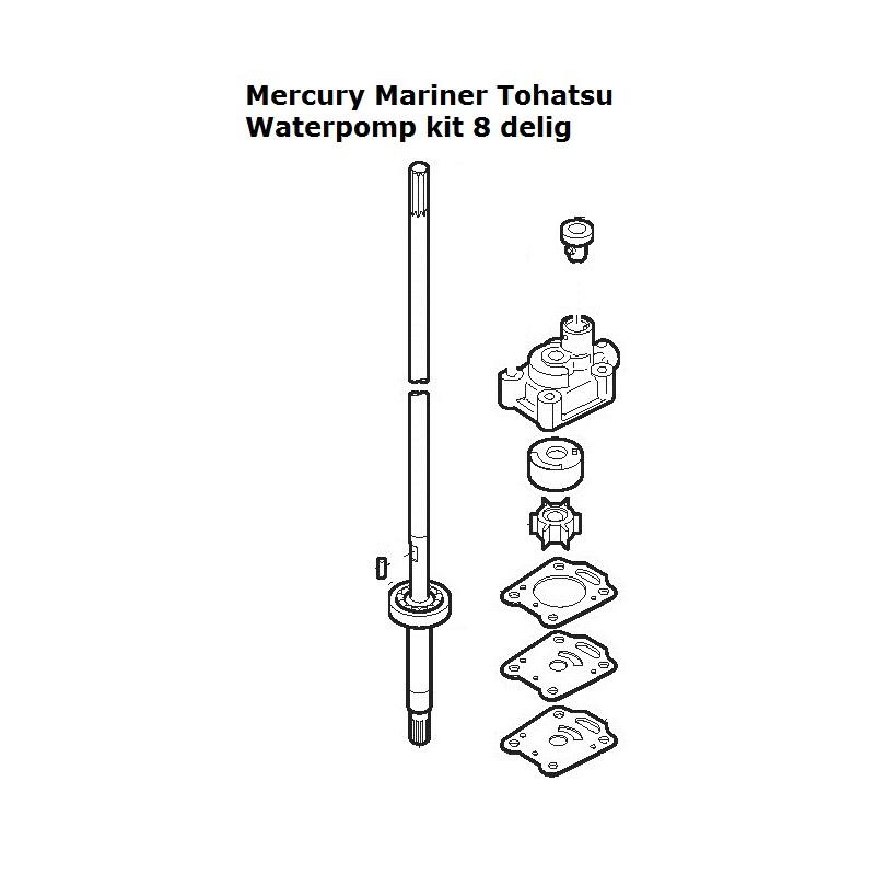 waterpomp kit mercury mariner tohatsu
