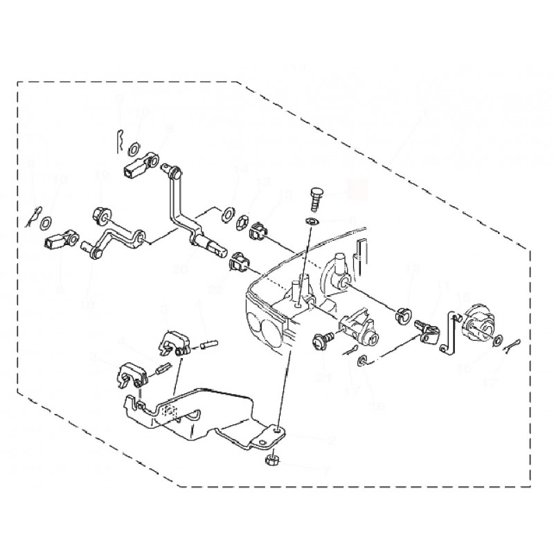 Aanbouwkit Yamaha 9,9&15 ymm-21206-00