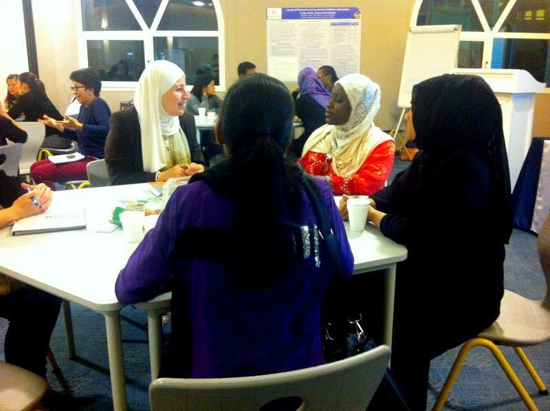 Dr. Suha Al-Hassan meets with parents