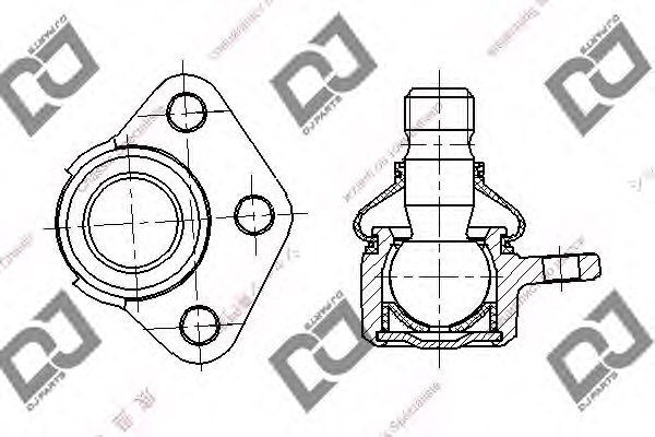 DB1265,DJ PARTS DB1265 Ball Joint for PORSCHE,VW