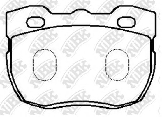 PN0238,NiBK PN0238 Brake Pad Set, disc brake for CARBODIES