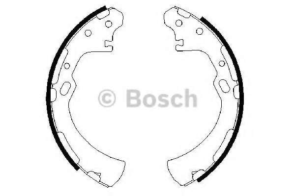 0986487369,BOSCH 0 986 487 369 Brake Shoe Set for NISSAN