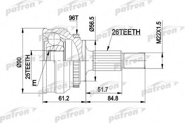 PCV1127,PATRON PCV1127 Joint Kit, drive shaft for AUDI