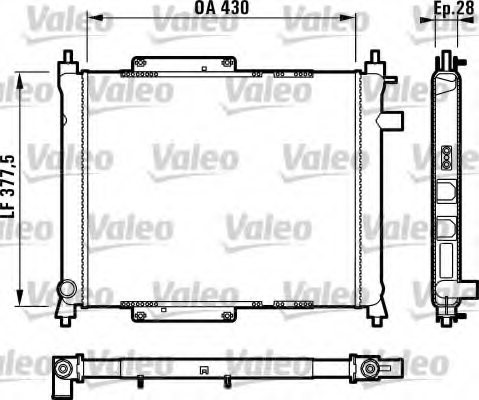 731815,VALEO 731815 Radiator, engine cooling for MG,ROVER
