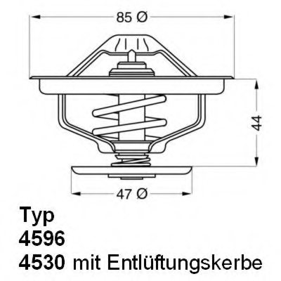 459683D,WAHLER 4596.83D Thermostat, coolant for RENAULT TRUCKS