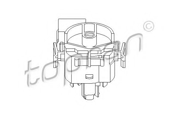 205656,TOPRAN 205 656 Ignition-/Starter Switch for OPEL