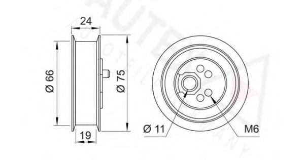 641116,AUTEX 641116 Tensioner Pulley, timing belt for AUDI,VW