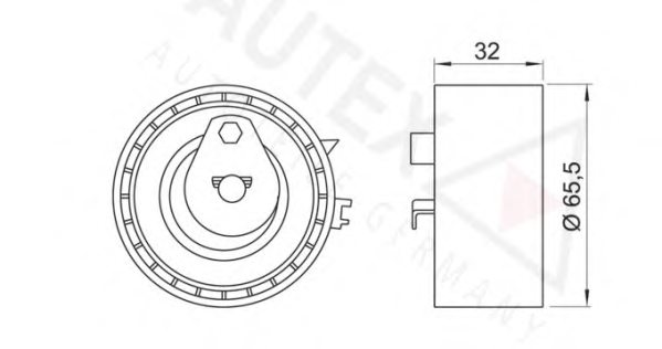 641169,AUTEX 641169 Tensioner Pulley, timing belt for