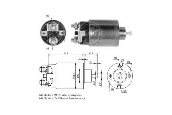 227778,ERA 227778 Solenoid Switch, starter for NISSAN