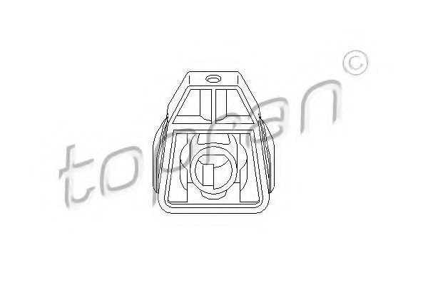 6Q0121367,VW 6Q0 121 367 Mounting, radiator for SEAT,SKODA,VW