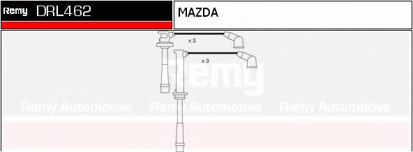 ZE2818140,MAZDA ZE28-18-140 Ignition Cable Kit for MAZDA