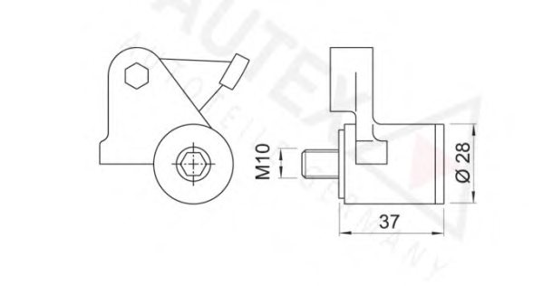 601288,AUTEX 601288 Tensioner Lever, timing belt for AUDI