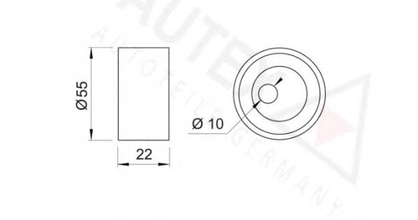 641339,AUTEX 641339 Tensioner Pulley, timing belt for
