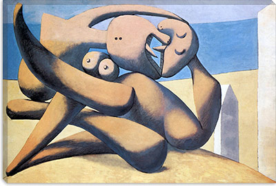 picasso - figure by the sea