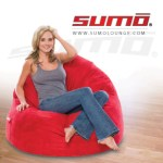 sumo bean bag in red