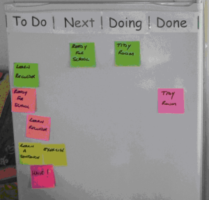 management for families, how to use sticky notes to remind children to do their chores