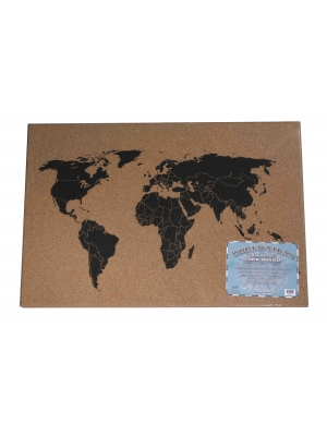 cork board magnetic world atlas world map