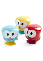 red, yellow, blue owl kitchen timer