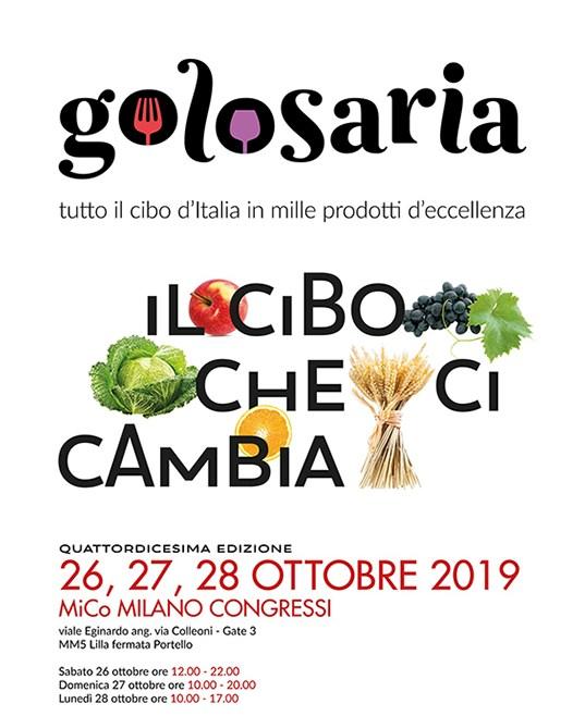 Vi aspettiamo a Golosaria dal 26 al 28 Ottobre!