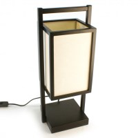 Japanese black table lamp SHOJI