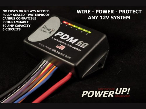small resolution of pdm60 power distribution module with programming cable