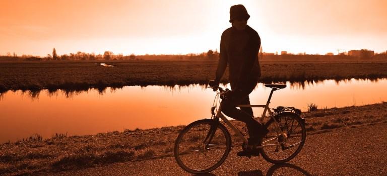Outdoor mit dem Fahrrad