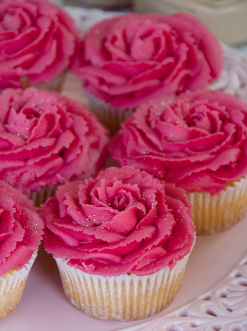 Rose Cupcakes by Cheryl Carey