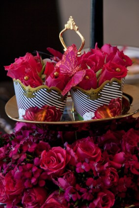 Use cupcake wrappers in your floral arrangments
