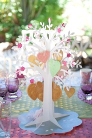 A wishing tree adorned with sugar cookie mobiles