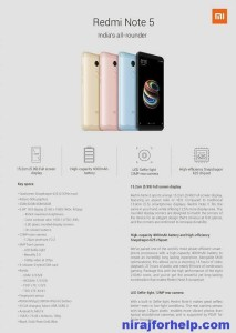 Redmi Note 5 Launch at Flipkart : Specification, Price,Date in India.