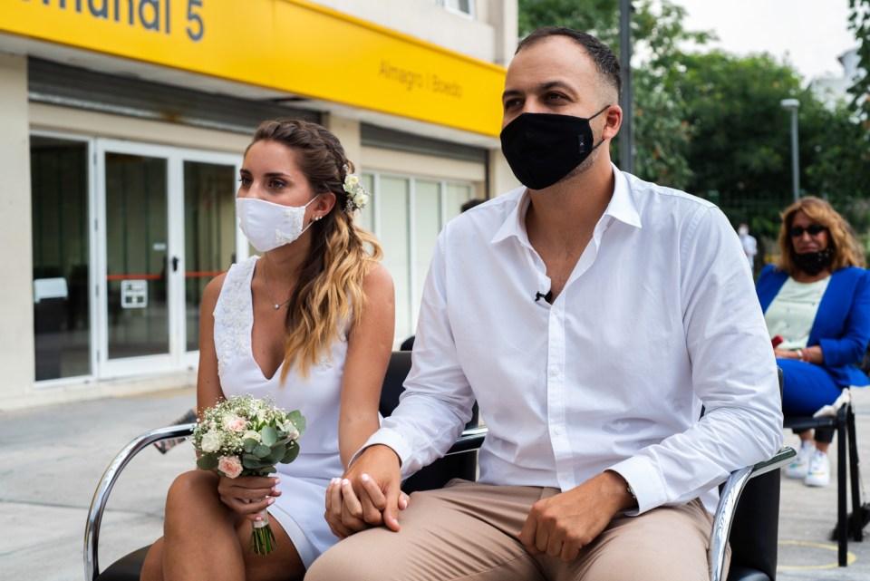 Ceremonia civil en pandemia