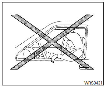 Nissan Rogue Owners Manual: Precautions on SRS