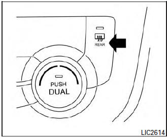 Nissan Rogue Owners Manual: Rear window and outside mirror