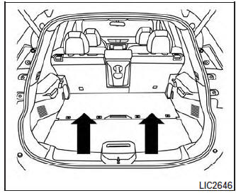 Nissan Rogue Owners Manual: Divide-n-hide® adjustable
