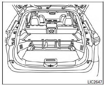 Nissan Rogue Owners Manual: Divide-n-hide® adjustable