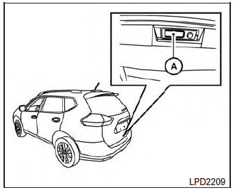 Nissan Rogue Owners Manual: Operating the power liftgate