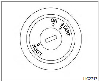 Nissan Rogue Owners Manual: Ignition switch (if so
