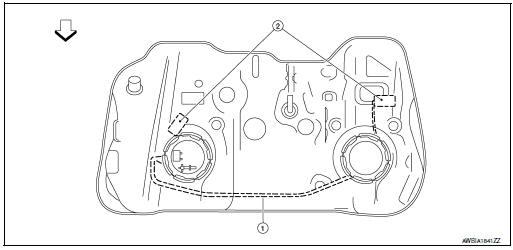 Nissan Rogue Service Manual: Fuel level sensor unit, fuel